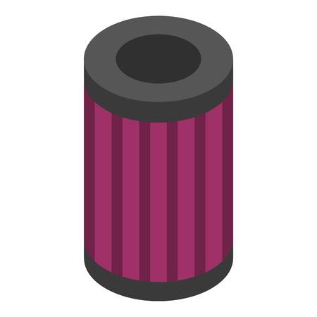 Oil car filter icon. Isometric of oil car filter vector icon for web design isolated on white background