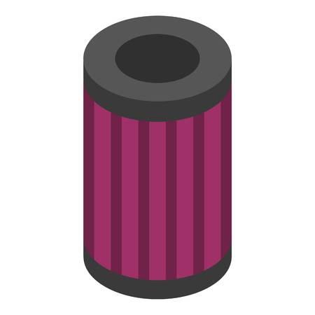 Oil car filter icon. Isometric of oil car filter vector icon for web design isolated on white background Vektoros illusztráció