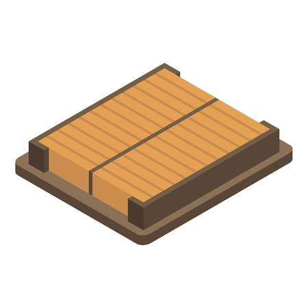 Square car air filter icon, isometric style 일러스트