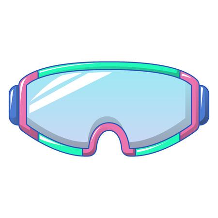 Ski goggles icon, cartoon style