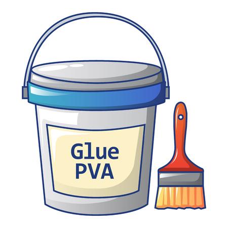 Glue pva icon, cartoon style Иллюстрация