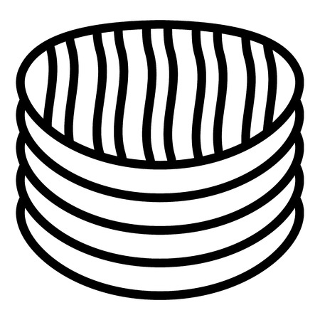 Potato chips icon, outline style Çizim