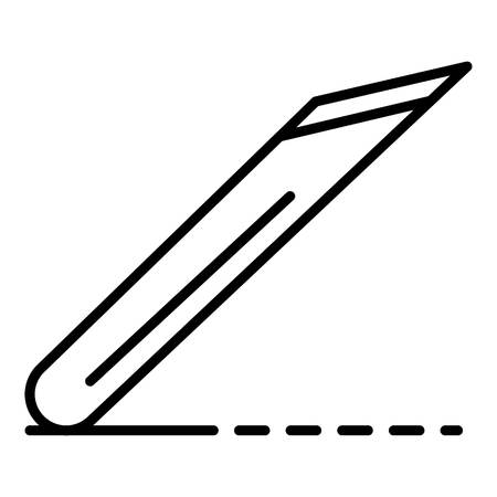 Potter office knife icon, outline style