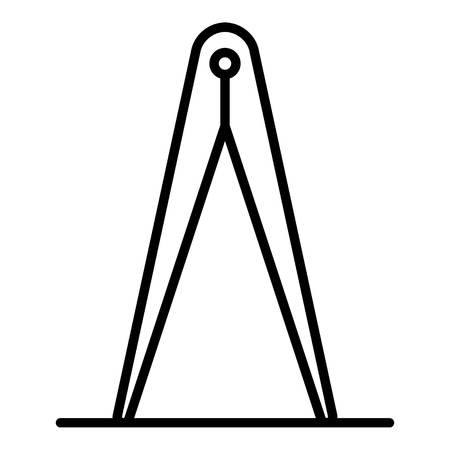 Metal measurement potter tool icon, outline style