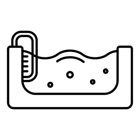 Pool icon, outline style