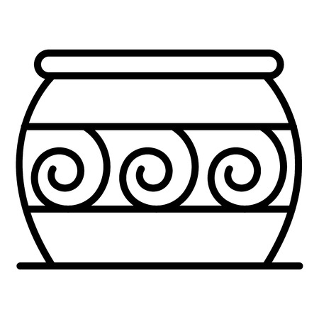 Cauldron potter icon, outline style