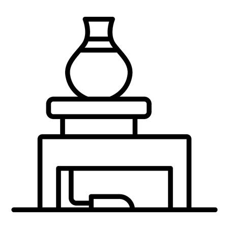 Potter workplace icon, outline style