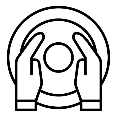 Hands potter work icon. Outline hands potter work vector icon for web design isolated on white background