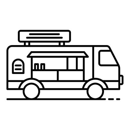 Chocolate vehicle icon, outline style