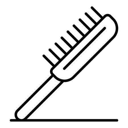 Pet brush icon. Outline pet brush vector icon for web design isolated on white background Векторная Иллюстрация