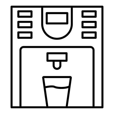 Icône de refroidisseur d'eau en plastique. Décrire l'icône vecteur refroidisseur d'eau en plastique pour la conception web isolé sur fond blanc