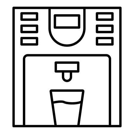 Plastic water cooler icon. Outline plastic water cooler vector icon for web design isolated on white background