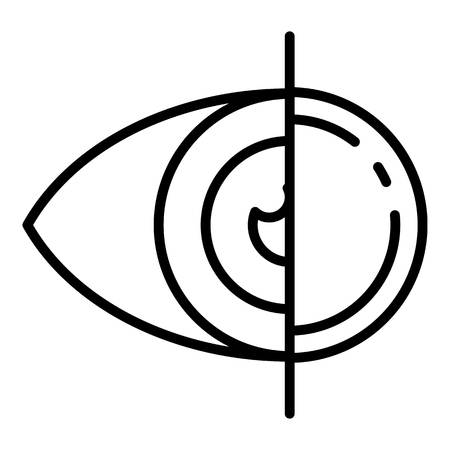 Eye contact lens icon, outline style