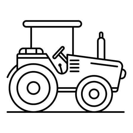 Modern tractor icon. Outline modern tractor vector icon for web design isolated on white background