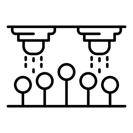 Drop water irrigation icon. Outline drop water irrigation vector icon for web design isolated on white background