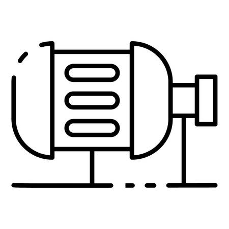 Irrigation motor icon. Outline irrigation motor vector icon for web design isolated on white background