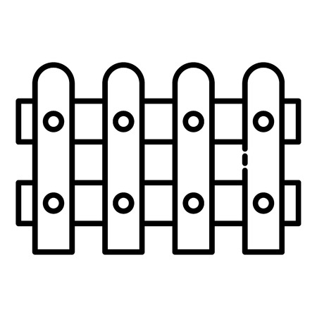 Garden fence icon. Outline garden fence vector icon for web design isolated on white background
