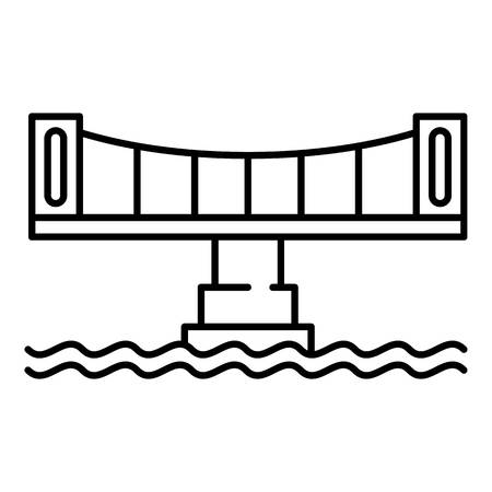 Modern bridge icon, outline style