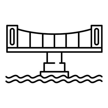 Modern bridge icon, outline style