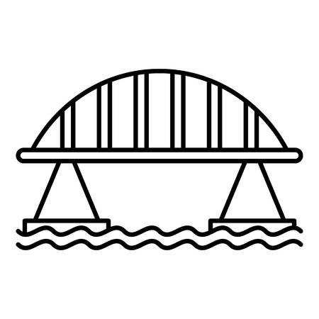 Viaduct bridge icon, outline style