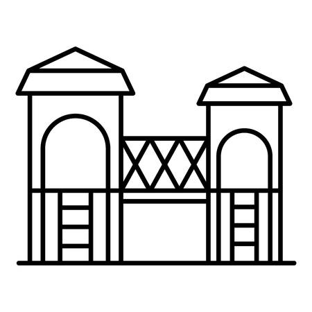 Kid castle playground icon, outline style