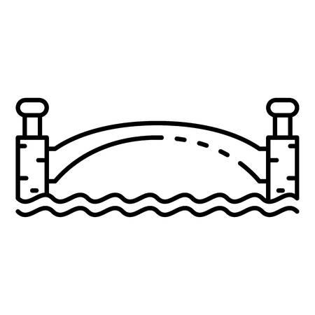 Park bridge icon. Outline park bridge vector icon for web design isolated on white background
