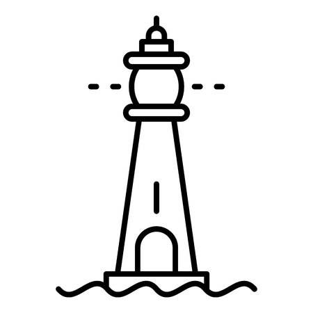 Glass lighthouse icon. Outline glass lighthouse vector icon for web design isolated on white background