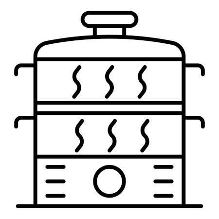 Steamer icon, outline style Illustration