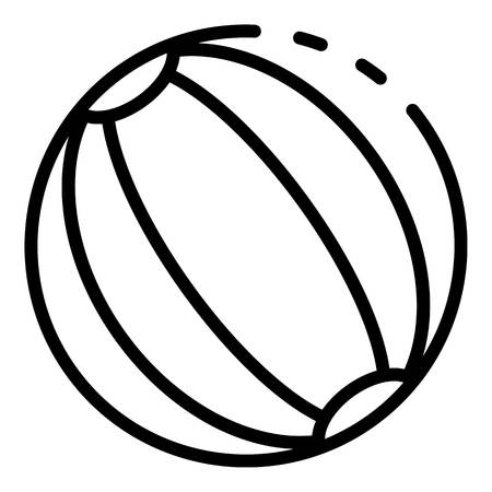 Ball toy icon, outline style Illustration