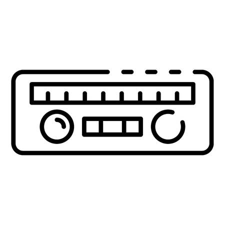 Car radio icon, outline style