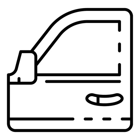 Car door icon, outline style Vettoriali