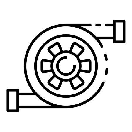 Car turbine icon, outline style