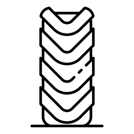 Off road tire icon, outline style