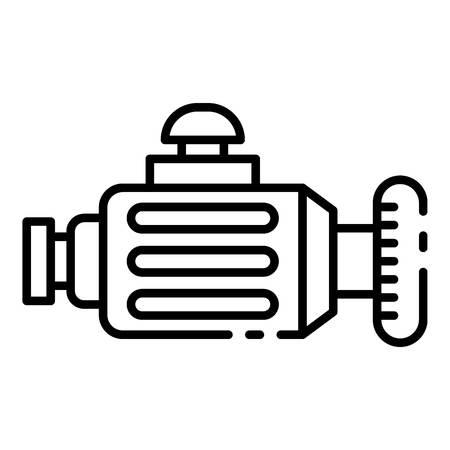 Icône de générateur de voiture, style de contour Vecteurs