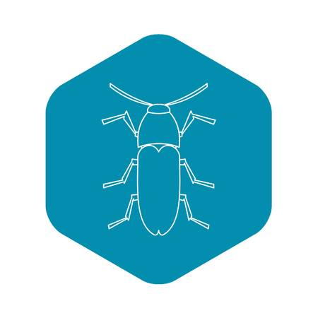 Dung beetle icon, outline style