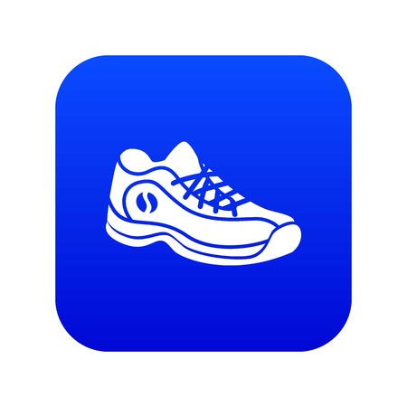 Sneakers icon blue vector