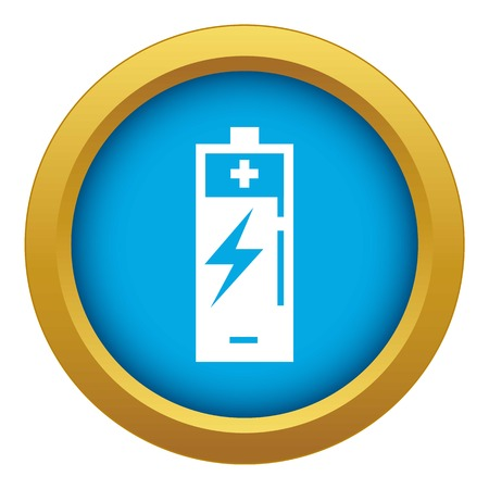 Wind turbine battery charging icon blue vector isolated on white background for any design