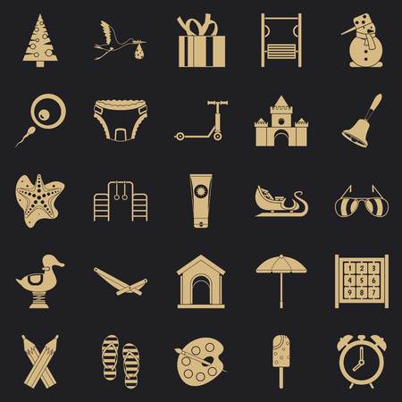Playroom icons set. Simple set of 25 playroom vector icons for web for any design