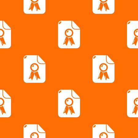 Certificate pattern vector orange for any web design best