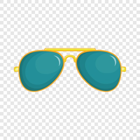 Glasses icon in cartoon style isolated on background for any web design