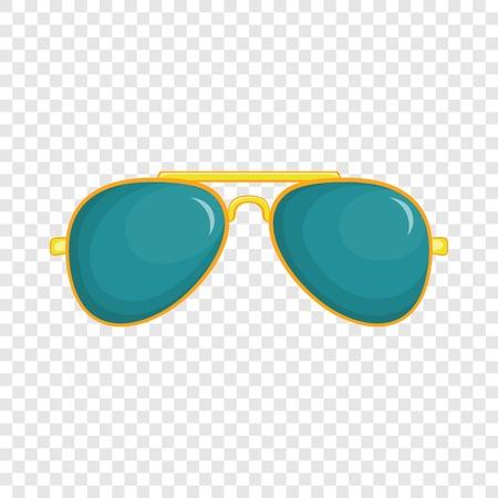 Icône de lunettes en style cartoon isolé sur fond pour toute conception de sites Web