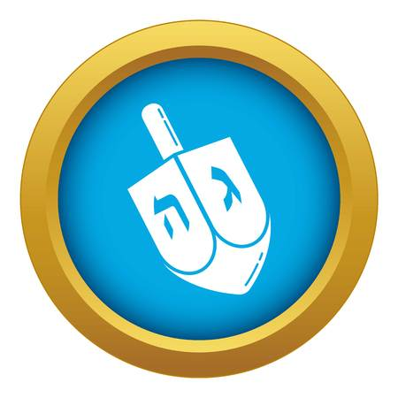 Dreidel icon blue vector isolated