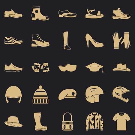 Shoes icons set. Simple set of 25 shoes vector icons for web for any design