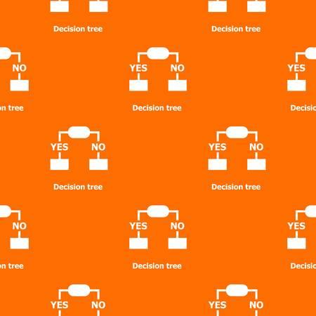 Decision tree pattern vector orange