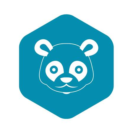 Head of panda icon in simple style isolated vector illustration