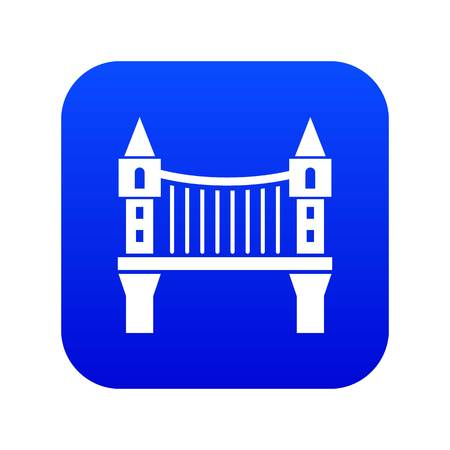 Tower bridge icon blue vector isolated on white background  イラスト・ベクター素材