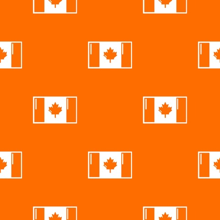 Flag canada pattern vector orange