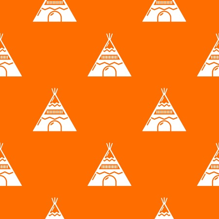 Indian tent pattern vector orange for any web design best