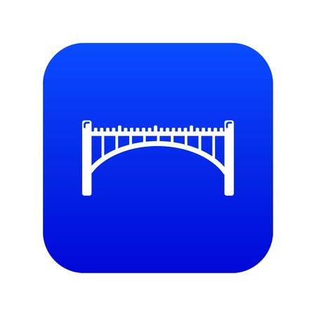 Road arch bridge icon blue vector isolated on white background Illustration