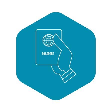 Passport icon, outline style
